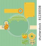 Baby Card With Bee And Flowers...