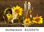 sunflower and vegetable oils - stock photo