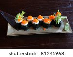 japanese food maki sushi | Shutterstock . vector #81245968