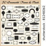 Vector Set Of 50 Ornamental...