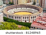 18th Century Plaza de Toros de Ronda bullring in Malaga, Spain - stock photo