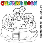Coloring Book With Kids In Poo...