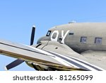 world war 2 transport airplane on german bunker complex in normandy france - stock photo