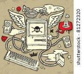 dangerous computer design | Shutterstock .eps vector #81272320