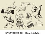 vector vintage hand drawn of... | Shutterstock .eps vector #81272323