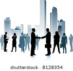 business people in the big city ... | Shutterstock . vector #8128354