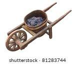Old Wooden Wheelbarrow With Va...
