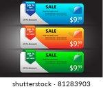 sale banners vector... | Shutterstock .eps vector #81283903