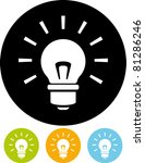 light bulb vector icon | Shutterstock .eps vector #81286246