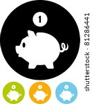 piggy bank money   vector icon | Shutterstock .eps vector #81286441