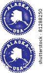 Alaska USA Stamps - stock vector