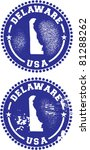 Delaware USA Stamps - stock vector