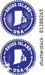 Rhode Island USA Stamps - stock vector
