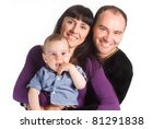 portrait of a nice  family of a ... | Shutterstock . vector #81291838