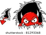 evil demon devil monster vector ... | Shutterstock .eps vector #81293368