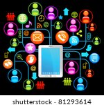 social network  communication... | Shutterstock .eps vector #81293614