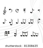 musical notes | Shutterstock .eps vector #81308635