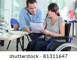 Young Woman In Wheelchair...