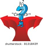 a very confused cartoon... | Shutterstock .eps vector #81318439