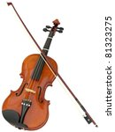 violin and fiddle stick... | Shutterstock . vector #81323275