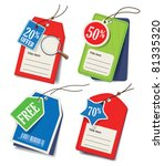 vector set of price tags | Shutterstock .eps vector #81335320