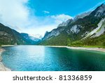 beautiful summer alpine  lake... | Shutterstock . vector #81336859