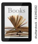 book and generic teblet... | Shutterstock . vector #81340282