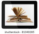 book and generic teblet... | Shutterstock . vector #81340285