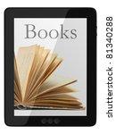 book and generic teblet... | Shutterstock . vector #81340288