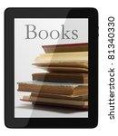 book and generic teblet... | Shutterstock . vector #81340330