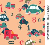 cars and digits   Shutterstock .eps vector #81341200
