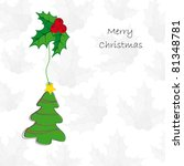 drawing background on christmas ... | Shutterstock .eps vector #81348781