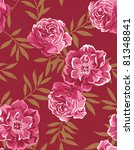 seamless floral background | Shutterstock . vector #81348841