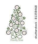 family tree empty frames | Shutterstock .eps vector #81358468