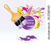 paint brush with bubble... | Shutterstock .eps vector #81358540