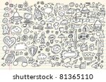 notebook doodle sketch design... | Shutterstock .eps vector #81365110