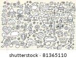 notebook doodle sketch design... | Shutterstock .eps vector #81365110