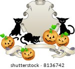 Halloween shield . An illustration of a Halloween themed shield - stock photo
