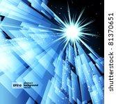 abstract techno lines vector... | Shutterstock .eps vector #81370651