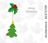 drawing background on christmas ... | Shutterstock . vector #81372709