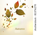 autumn background autumn leaves ... | Shutterstock .eps vector #81376270