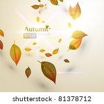 autumn background   Shutterstock .eps vector #81378712