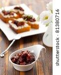 pumpkin and tomato chutney | Shutterstock . vector #81380716