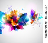 floral abstract background. | Shutterstock .eps vector #81382387