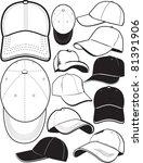 baseball cap collection | Shutterstock .eps vector #81391906