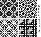 set seamless damask pattern ... | Shutterstock .eps vector #81393595