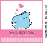 nice sleeping bunny with hearts.... | Shutterstock .eps vector #81402022