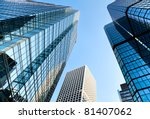 office building on a background ... | Shutterstock . vector #81407062