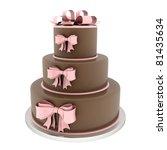 A Beautiful Wedding Cake On A...