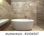 interior of designer bathroom | Shutterstock . vector #81436567